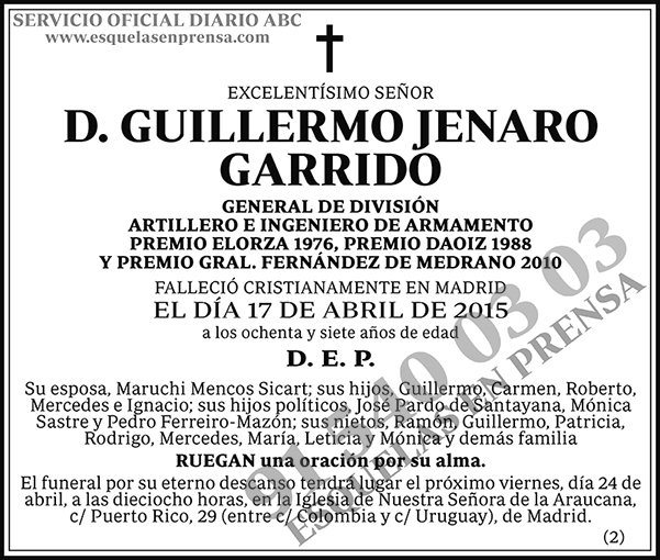 Guillermo Jenaro Garrido